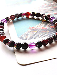 Women's Circle Purple Crystal Strand Bracelets 1PC