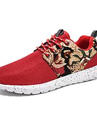 Da donna-Sneakers-Sportivo-Comoda-Piatto-Tulle-Nero / Blu / Rosso