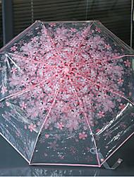 Verde / Azul / Rosa / Morado Paraguas de Doblar Soleado y lluvioso Plastic Viaje / Lady / Hombre