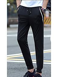 Pantalon de Sport Pour des hommes Couleur plaine Sport Nylon Noir