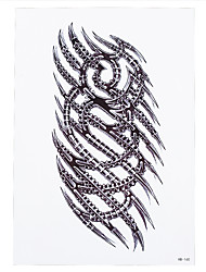1pc Temporary Tattoo Women Men Body Art Skull Scratch Edge Link Tool Waterproof Tattoo Sticker Paper HB-160