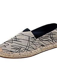 Unisex Loafers & Slip-Ons Spring / Fall Comfort Linen Casual Flat Heel Slip-on Black / Red Walking