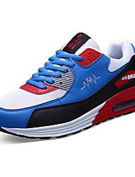Herren-Sneaker-Sportlich-PU-Flacher Absatz-Komfort-Schwarz Rot Grau Königsblau