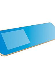 dianteiro e traseiro espelhos tacógrafo visão HD 1080p noite gravador de 4,3 polegadas com duas lentes