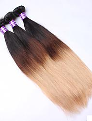 Омбре Евро-Азиатские волосы Прямые 12 месяцев 3 предмета волосы ткет