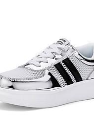 Damen-Sneaker-Outddor / Lässig-PU-Flacher Absatz-Flache Schuhe-Rot / Weiß / Gold / Schwarz und Gold