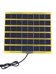 5W 12V painel solar policristalino com cabo de carga DC para a bateria de 12v (swb5012d)