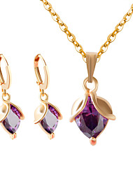 Jewelry Set Women's Anniversary / Wedding/Party / Special Occasion Jewelry Sets Alloy Purple /White
