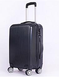 Unisexe PVC Extérieur Bagages Noir / Fuchsia
