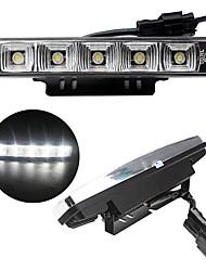 2pcs 2x5W 5LED lumière de couleur blanc 6000k 100% imperméable à l'eau de haute qualité feux diurnes
