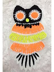 Embroidery Orange Fabric 1 pc