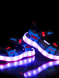 LED Light Up Shoes, Girl's Sandals Summer Sandals PU Casual Flat Heel Blue / Gray Others