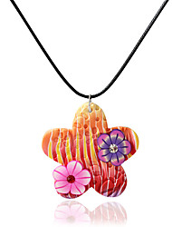 Necklace Pendant Necklaces Jewelry Daily / Casual Adorable Ceramic Blue / Orange / Pink 1pc Gift