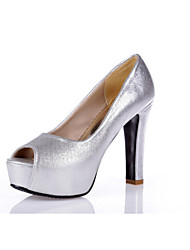 Women's Shoes Glitter / Customized Materials Fashion Heels / Peep Toe / Platform Sandals Party & Evening / Dress