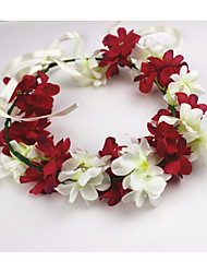 Women's Fabric Headpiece-Wedding Wreaths 1 Piece