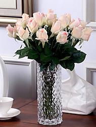 10 10 Ast PU Rosen Tisch-Blumen Künstliche Blumen 55CM