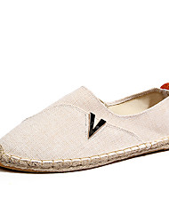 Summer New Product Sales Men's Ultra Breathable Linen Slip-on Flats in Casual Style Man's Lazy Shoes