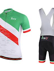 Miloto Maglia con salopette corta da ciclismo Per uomo Maniche corte BiciclettaSalopette Felpa Maglietta/Maglia
