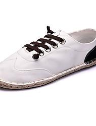 Черный / Синий / Черный и белый-Женский-На каждый день-Ткань-На плоской подошве-На плокой подошве-На плокой подошве