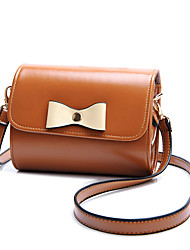 Women PU Bow Casual Shopping Shoulder Key Holder Coin Purse  Hobo Mobile Phone Bag