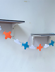Korean Plane Weaving Garland Flags Clouds Birthday Party Decoration Decoration Home Furnishing Non-Woven Fabric
