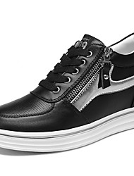 Women's Sneakers Spring / Summer / Fall / Winter Comfort Synthetic Athletic / Casual Flat Heel Black /White Sneaker