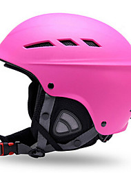 Универсальные шлем Л: 58-61CM Спортивные Ультралегкий (UL) Фиксированный 14 CE EN 1077 Снежные виды спорта / Лыжи Красный / Розовый