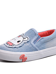 Girls' Shoes Outdoor / Work & Duty / Athletic Canvas Flats Spring / Summer / Fall Comfort / Round Toe / Gore Blue