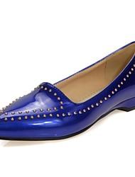 Damen-Flache Schuhe-Büro / Lässig-Lackleder-Keilabsatz-Komfort / Spitzschuh-Blau / Rosa / Rot / Beige