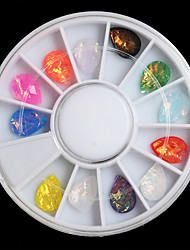1PC 6cm In a Box  7*10mm Drops Of Water Dazzle Colour Glass Resin  Gem Diamond 12 Color Conventional