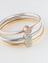 Damen Bettelarmbänder Modisch Aleación Kreisform Gold/Silber Schmuck Für 1 Set