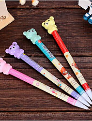 T2141 2023 Teddy Bear Fashion Students Learn Mechanical Pencil Writing Pen Writing Pen Tool