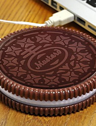 Creative Cookies Shape USB Heating Mat Heating Coffee for Office
