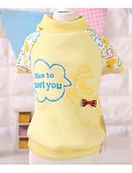Dog Shirt / T-Shirt Pink / Yellow Spring/Fall Cartoon Casual/Daily, Dog Clothes / Dog Clothing