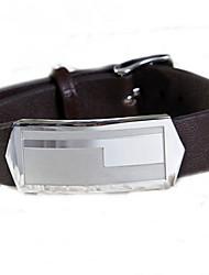 Fashion Men's Brown Geometric Pattern 316L Stainless Steel Leather Bracelets