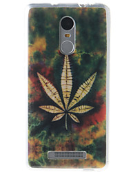 Leaf Painting Pattern TPU Soft Case for Xiaomi Redmi Note 3