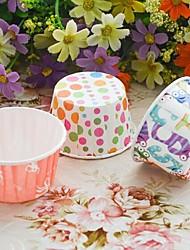 Geburtstag Party-Geschirr-100Stück / Set Cupcake-Papierförmchen Blütenblätter 100% Zellstoff Klassisches Thema Zylinder