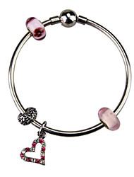 Strand Bracelets 1pc,Pink Bracelet Fashionable Circle 514 Titanium Steel Jewellery