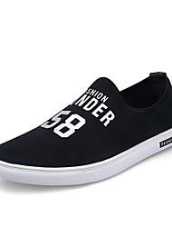 Herren-Loafers & Slip-Ons-Lässig-Stoff-Flacher AbsatzSchwarz Weiß