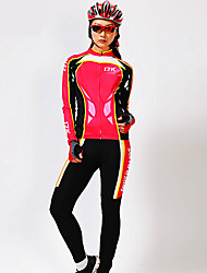MYSENLAN® Cycling Jersey with Tights Women's Long Sleeve BikeBreathable / Thermal / Warm / Quick Dry / Ultraviolet Resistant / Moisture