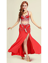 Belly Dance Outfits Women's Performance Cotton Sequins / Tassel(s) 2 Pieces Belly Dance