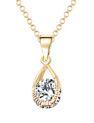 Fashion Cubic Zirconial Crystal Pendants Necklaces Charm Water Drop Chain Necklaces For Women CZ Diamond Wedding Jewelry