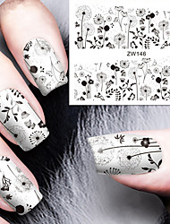 Fashion Printing Pattern Water Transfer Printing Dandelion Nail Stickers
