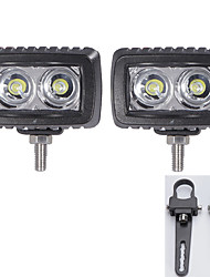 2PC Cree 10W Led Work Light Bar Flood Offroad Driving Bar Car 12V and A pair Mounting Brackets