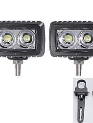 2pc cree 10w conduit barre lumineuse offroad de crue de travail conduite 12v voiture bar et une paire des supports de montage