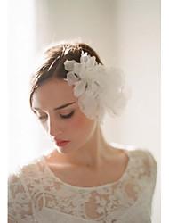 Mulheres Tule Liga Poliéster Organza Capacete-Casamento Ocasião Especial Casual Ao ar LivreFlores Clip para o Cabelo Acessórios para
