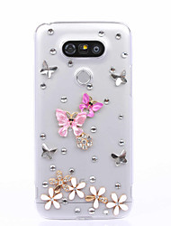 DIY Butterfly Pattern PC Hard Case for Multiple LG G3 G4 G5 G5SE V10 V20  K10 K7 K4