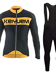 KEIYUEM®Spring/Summer/Autumn Long Sleeve Cycling Jersey+Long Bib Tights Ropa Ciclismo Cycling Clothing Suits #L79