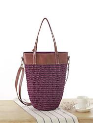 STYLE-CICI® Women Straw Tote Beige / Purple / Brown / Gray-534775556623