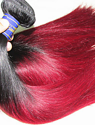 4pcs 400g lot grade 8a brazilian remy straight hair weaves omber hair two colors 1b/99j real brazilian remy human hair